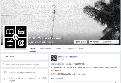 SOS Médias Burundi  2 july 2016